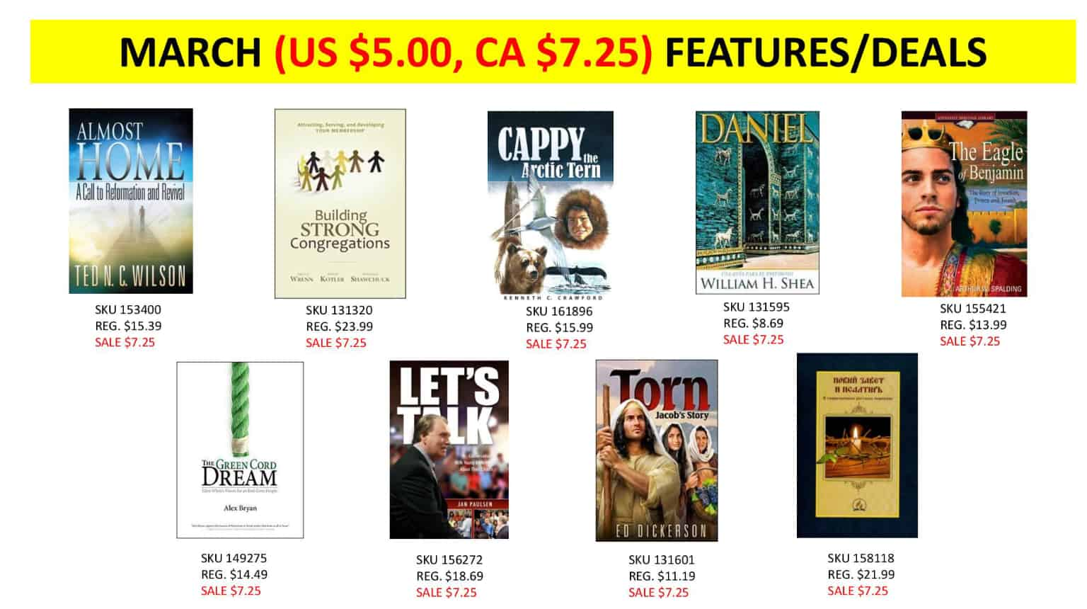 March sales at ABC