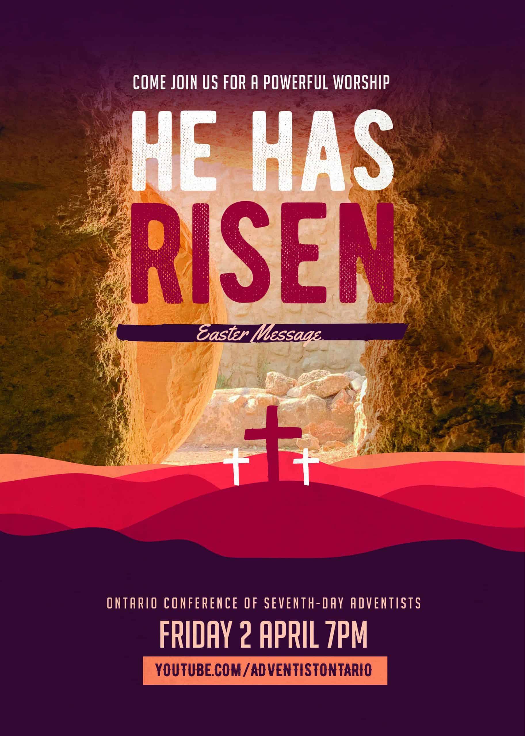 He has risen flyer