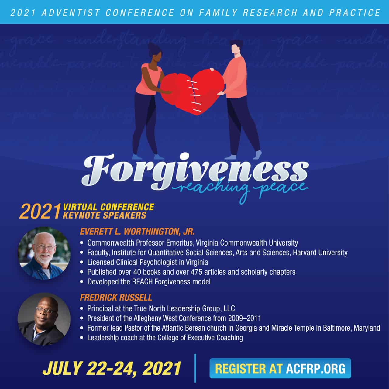 Flyer for Adventist Conference on Family Research and Practice